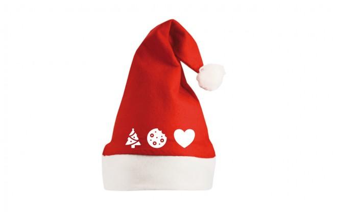 Vánoční čepice s piktogramy Vánoc