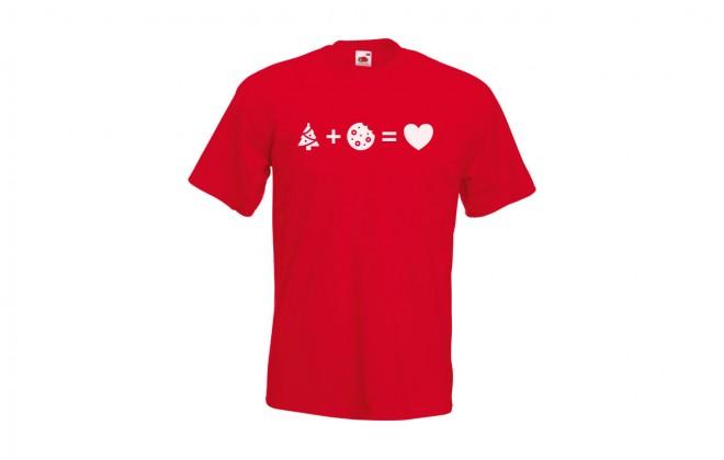 Pánské tričko s piktogramy cukroví